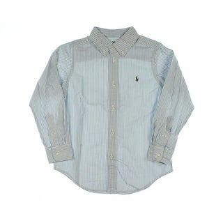Ralph Lauren Boys Oxford Striped Button-Down Shirt - 7