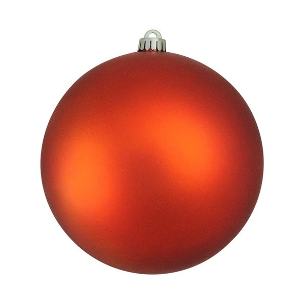 "Shatterproof Matte Burnt Orange UV Resistant Commercial Christmas Ball Ornament 8"" (200mm)"
