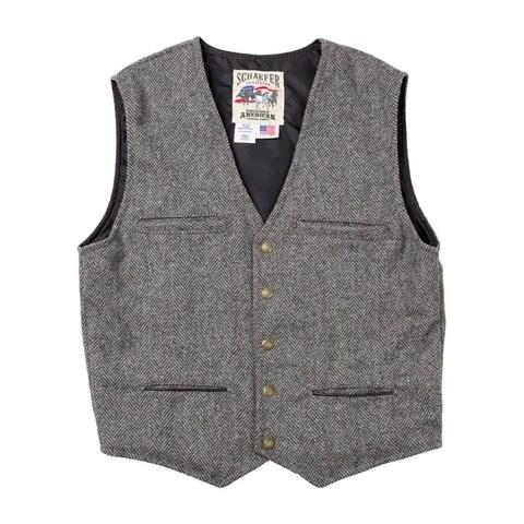 Schaefer Western Vest Mens McKenzie Merino Melton Wool Durable