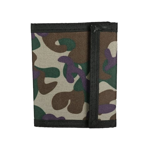 Rhode Island Novelty Kid's Camouflage Print Trifold Wallet