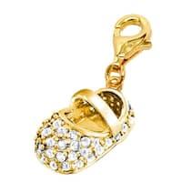 Julieta Jewelry Baby Shoe In White Clip-On Charm