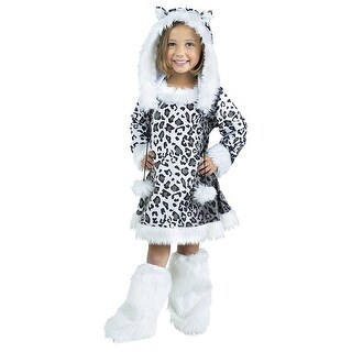Snow Leopard Toddler Costume - White