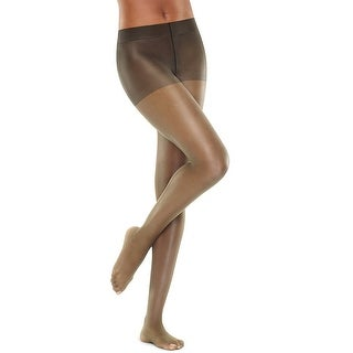 Hanes Perfect Nudes Run Resistant Tummy Control Girl Short Hosiery - Tan/Nude 5 - Size - M