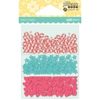 Jillibean Soup Shaker Card Sequin Pack-Birthday W/Shapes, 200/Pkg