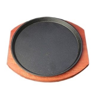 Cast Iron Grilled Fillet Steak rosewood bottom 23cm iron plate