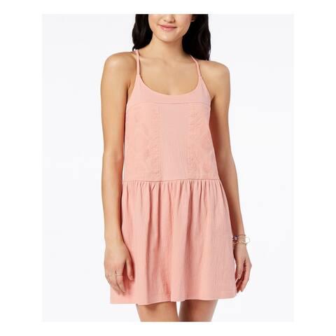 ROXY Womens Pink Spaghetti Strap Mini A-Line Dress Size XL