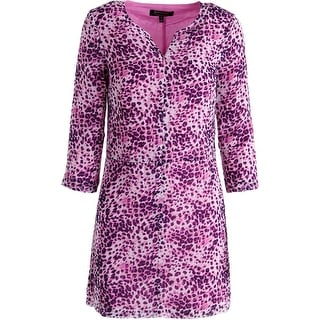 Juicy Couture Black Label Womens Chiffon Leopard Print Casual Dress