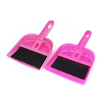 Unique Bargains Computer Netbook Keyboard Desk Table Dustpan Broom Cleaner  Brush Fuchsia 2PCS   Free Shipping On Orders Over $45   Overstock.com    23859765