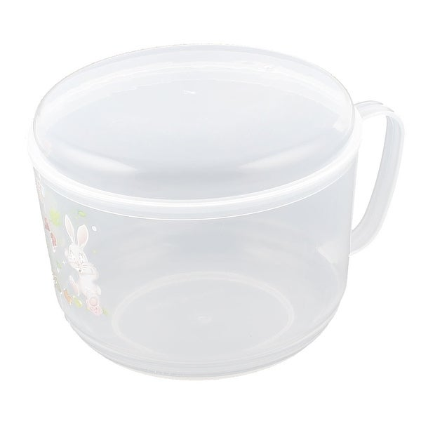 Plastic Round School Office Lunch Dinner Rice Food Storage Container Box Clear