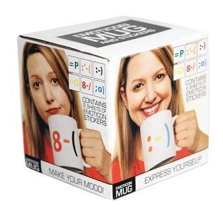 Emoticon Coffee Mug & Stickers - Multi