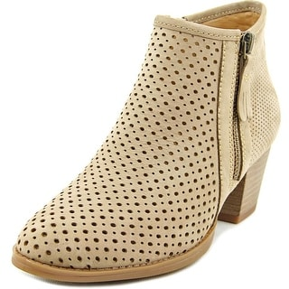 Earth Pineberry Women Round Toe Leather Gray Ankle Boot