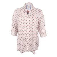 Style & Co Women's Plus Size  Mixed-Print Top - Tiny Fleur