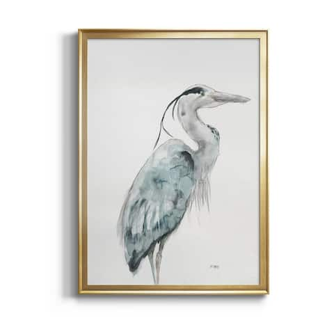 BLUE HERON I Premium Framed Canvas - Ready to Hang