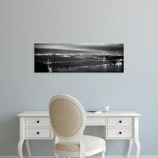 Easy Art Prints Panoramic Images's 'Suspension bridge, Golden Gate Bridge, San Francisco, California' Canvas Art