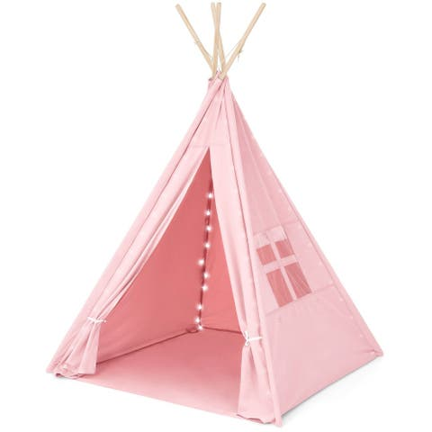 Teepee Tent for Children with Carry Case, Toys for Girls/Boys Playing - 1pc