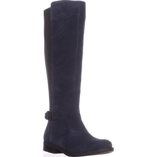Tommy Hilfiger Womens Suprem Leather Almond Toe Knee High Fashion Boots