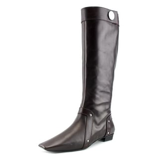 Roger Vivier Stivale Zip T.25 Women Pointed Toe Leather Brown Mid Calf Boot