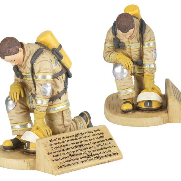 "6"" Kneeling Firefighter Prayer Resin Figurine - N/A"