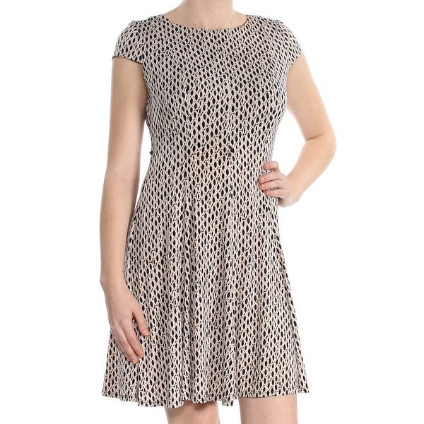 73b2d2f3158b Shop JESSICA HOWARD Womens Black Animal Print Short Sleeve Jewel Neck Above  The Knee Fit + Flare Dress Petites Size: 8 - Free Shipping On Orders Over  $45 ...