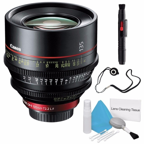 Canon CN-E 135mm T2.2 L F Cinema Prime Lens (EF Mount) (International Model) Bundle