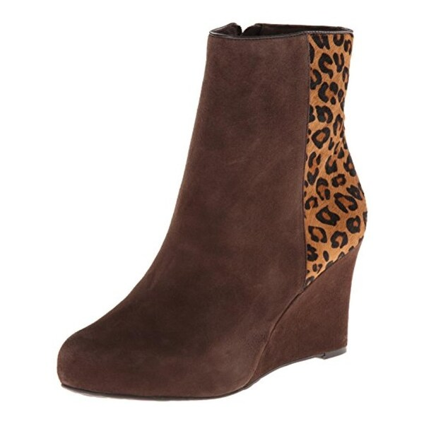 Rockport Womens Seven To 7 Booties Leather Leopard Print