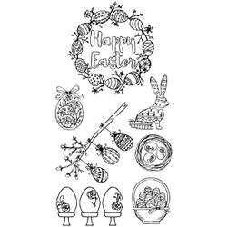 Eggstatic Easter - Sizzix Clear Stamps By Jen Long