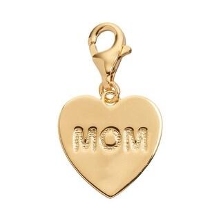 Julieta Jewelry 'Mom' Heart Plate Clip-On Charm