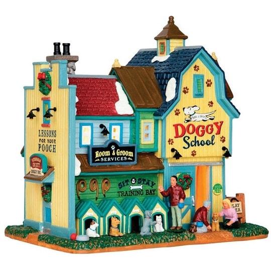 Lemax 65109 Rex &Spots Doggy School Porcelain Christmas Village Building