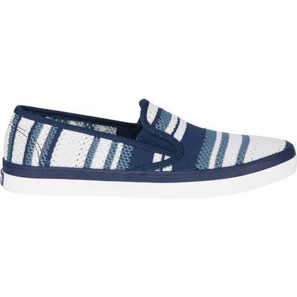 Seaside Stripped Knit Sneaker Navy