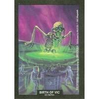 Birth Of Vic Artwork Sticker Card Ed Repka, Megadeth 1991