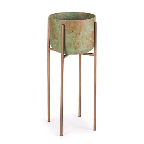 Isadore Cachepot On Stand Small