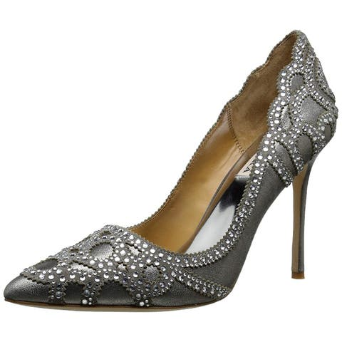 BADGLEY MISCHKA Womens Rouge II Leather Pointed Toe Classic Pumps