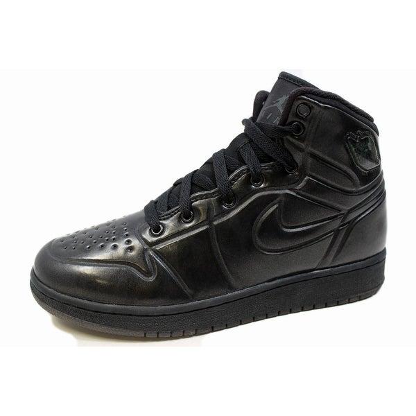 buy popular 1d69b 2c254 Nike Grade-School Air Jordan 1 Anodized Black Anthracite 414794-002 Size 6Y