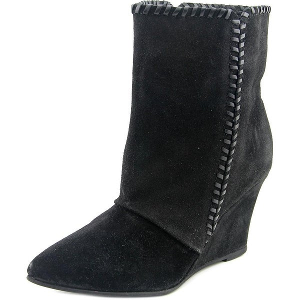Charles By Charles David Naya Women  Pointed Toe Suede Black Ankle Boot