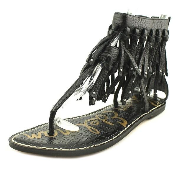 63d77eef15d4 Shop Sam Edelman Griffen Women Open Toe Leather Black Thong Sandal ...