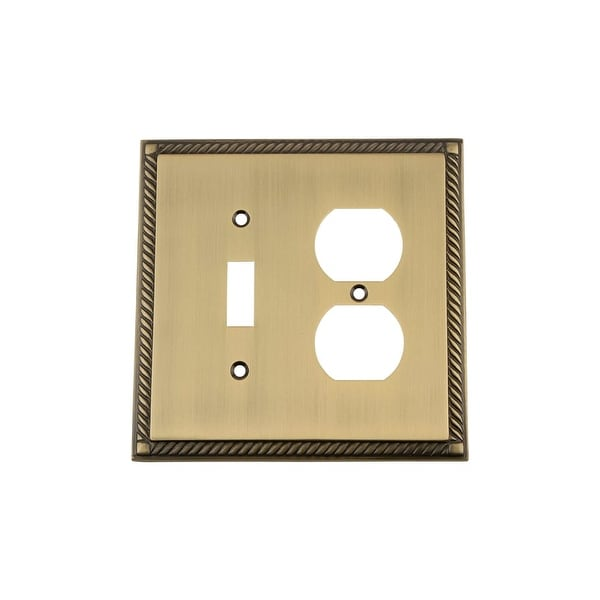 Nostalgic Warehouse ROP_SWPLT_TD Rope Single Switch and Single Duplex Wall Plate - N/A