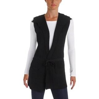 Aqua Womens Vest Knit Tie Closure - m