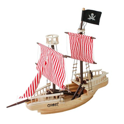 "43""Large Wooden Pirate Ship Toy For Kids Multicolor"