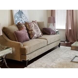 Visconti Modern 2 Piece Velvet Sofa And Loveseat Set By FOA