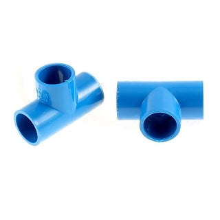 2 Pcs T-shaped 3 Ways Drinking Water Plumbing Tube Pipe Connector Adapter