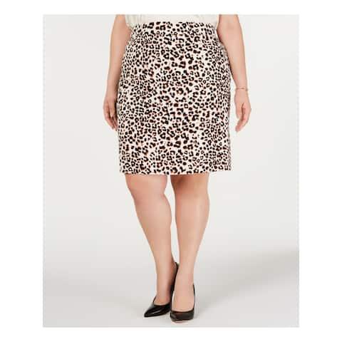 BAR III Beige Above The Knee Pencil Skirt Size 2X