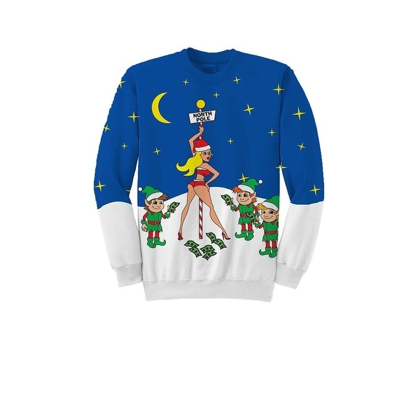 ad399f165dd Shop Plus Size North Pole Stripper Ugly Christmas Sweater - Free Shipping  Today - Overstock - 18292075