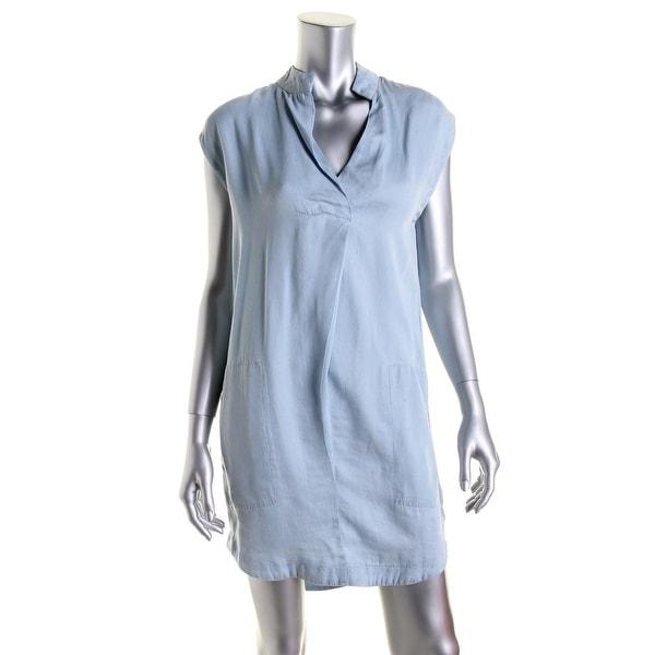 Rachel Rachel Roy Womens Casual Dress Chambray Sleeveless