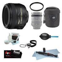 Nikon AF-S 50mm f/1.4G Nikkor Lens Bundle with 58mm Filter + Accessories