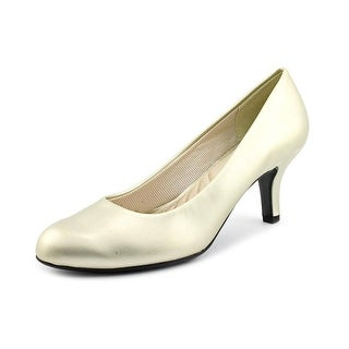 Easy Street Passion Women W Round Toe Synthetic Gold Heels