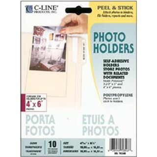 "Peel & Stick Photo Holders 10/Pkg-Clear 4""X6"""