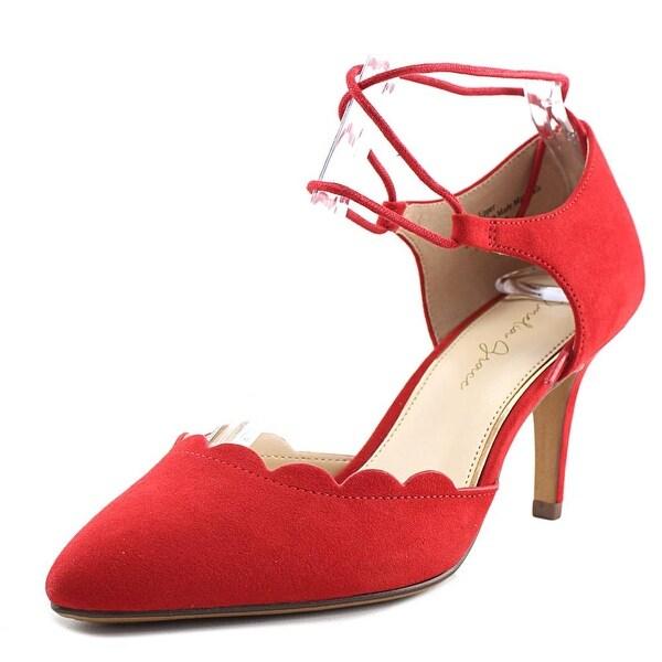 Amelia Grace Tennie Women Open Toe Canvas Red Sandals