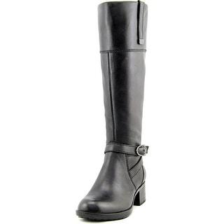 Bandolino Baya Women Round Toe Leather Black Knee High Boot