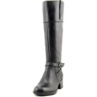 Bandolino Baya Women Round Toe Leather Black Knee High Boot
