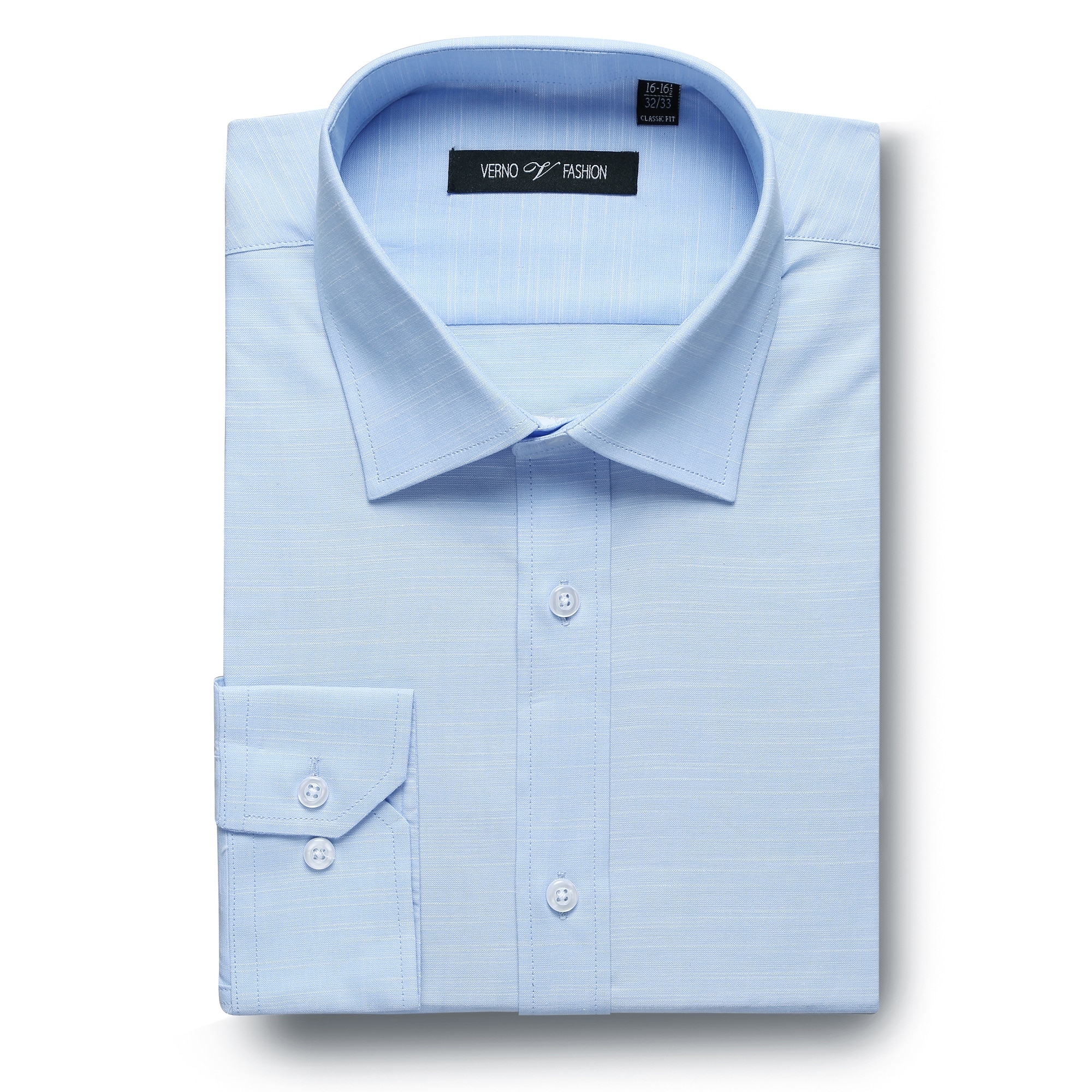 Buttoned Down mens standard Non-Iron Classic Fit French Cuff Spread Collar Dress Shirt